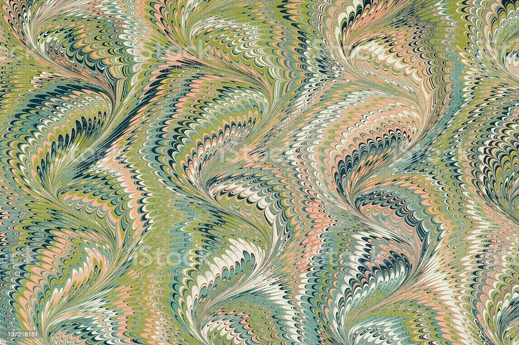 A marbled paper with visible curve pattern  stock photo