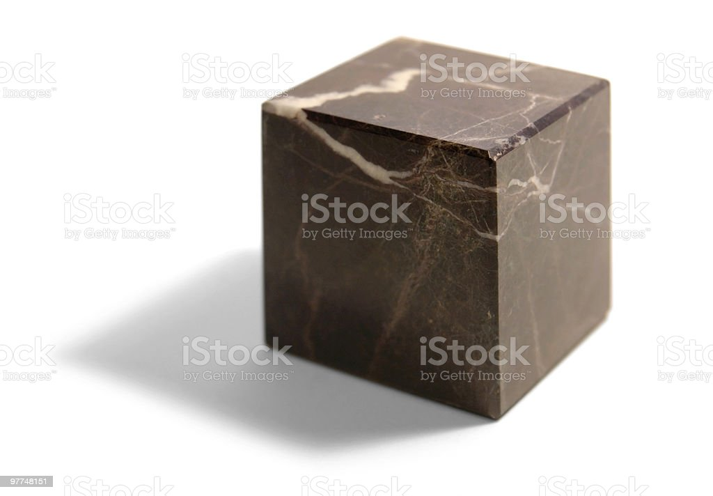 marbled stone cube royalty-free stock photo