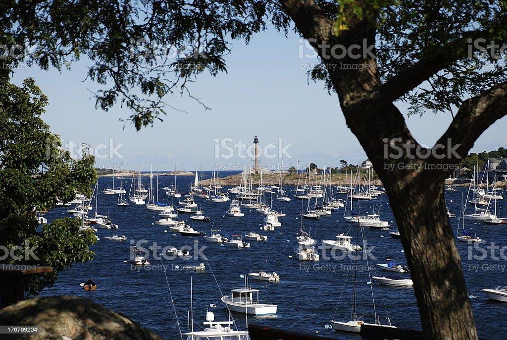 Marblehead Harbor stock photo