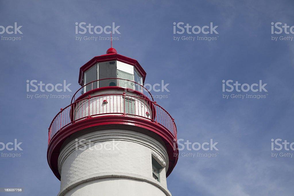 Marblehead Lighthouse Beacon with Sky stock photo