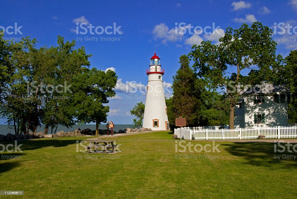 Marblehead Lighthouse Ohio stock photo