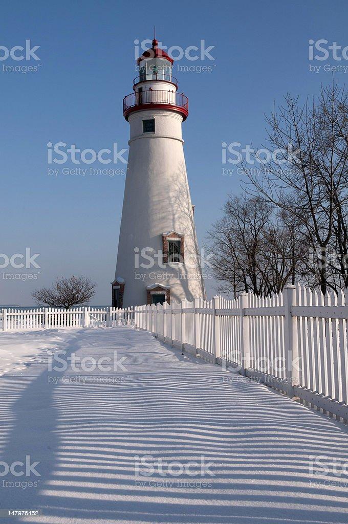 Marblehead Lighthouse stock photo