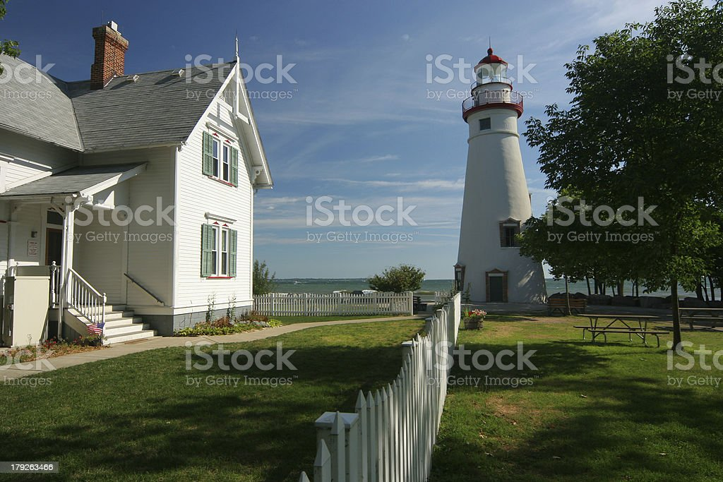 Marblehead Lighthouse stock photo