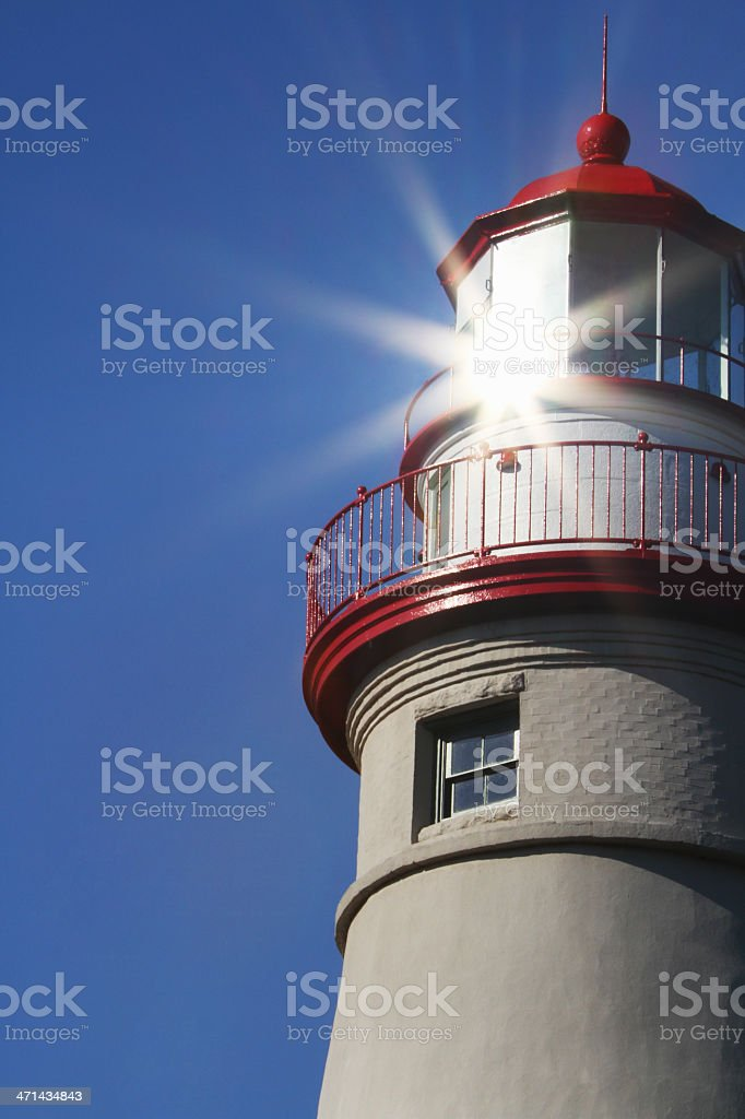 Marblehead Lighthouse Reflection royalty-free stock photo