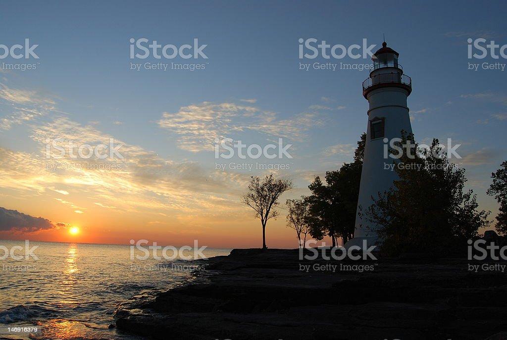 Marblehead Sunrise stock photo