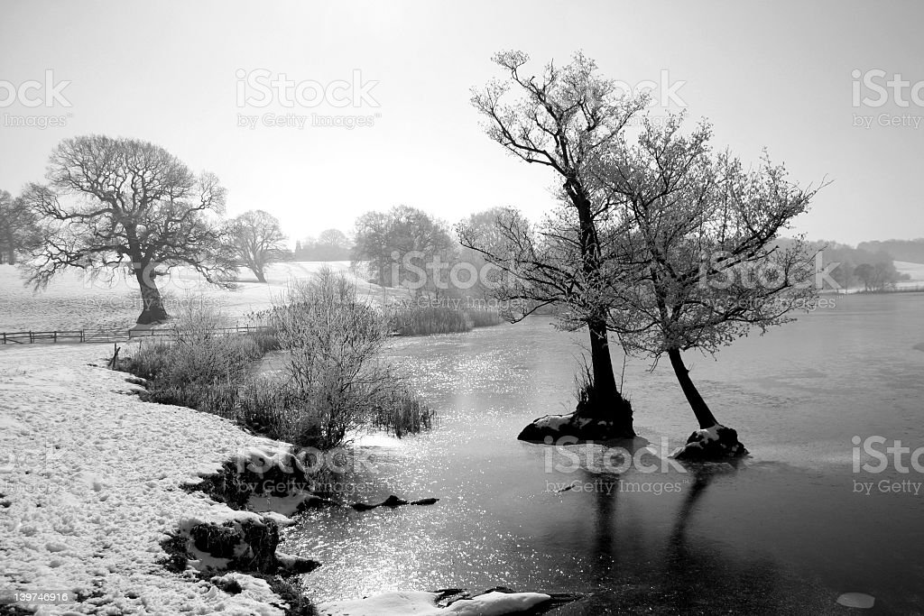Marbury mere in black and white royalty-free stock photo
