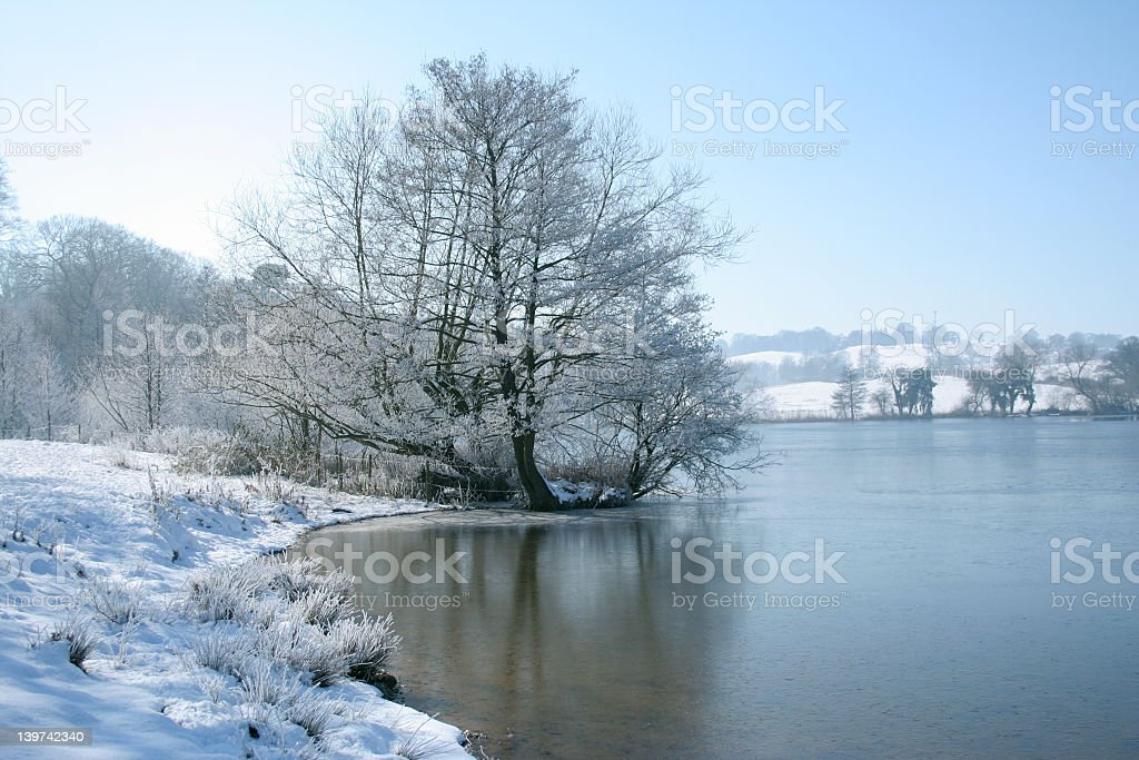 Marbury mere in winter royalty-free stock photo