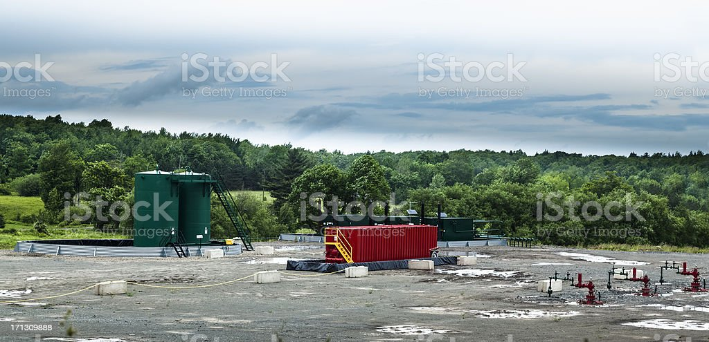 Marcellus Shale Gas Well Site royalty-free stock photo