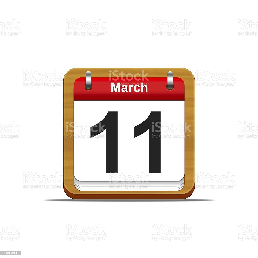 March 11. royalty-free stock photo
