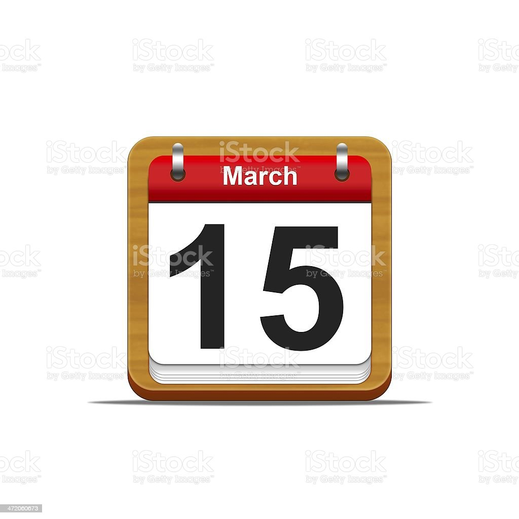 March 15. stock photo