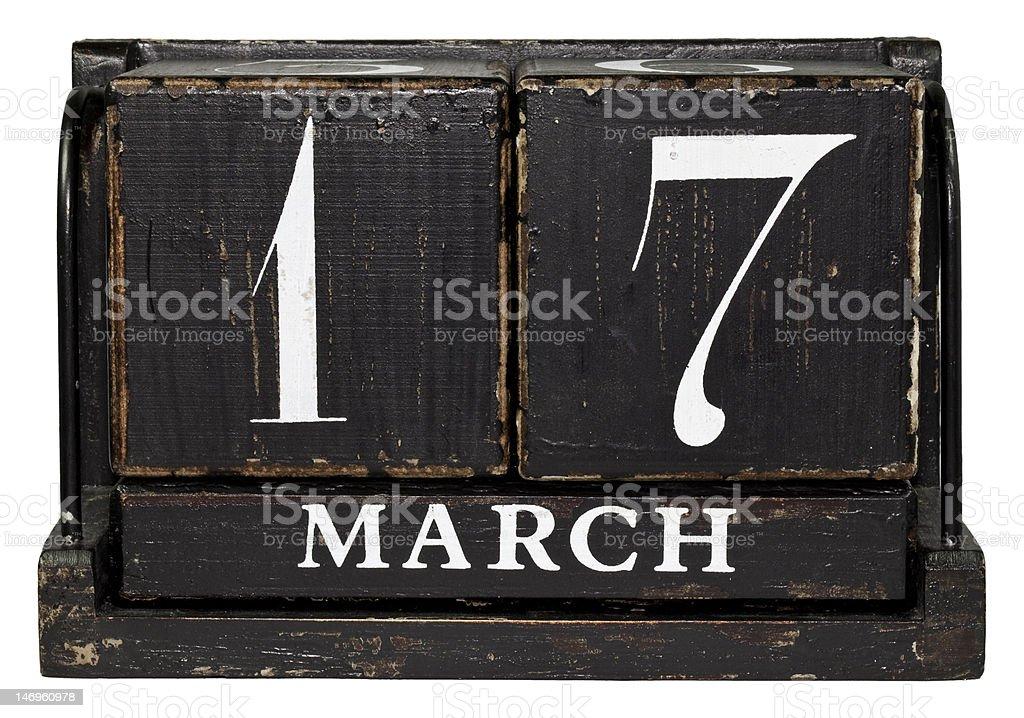 March 17 - Saint Patrick's Day stock photo