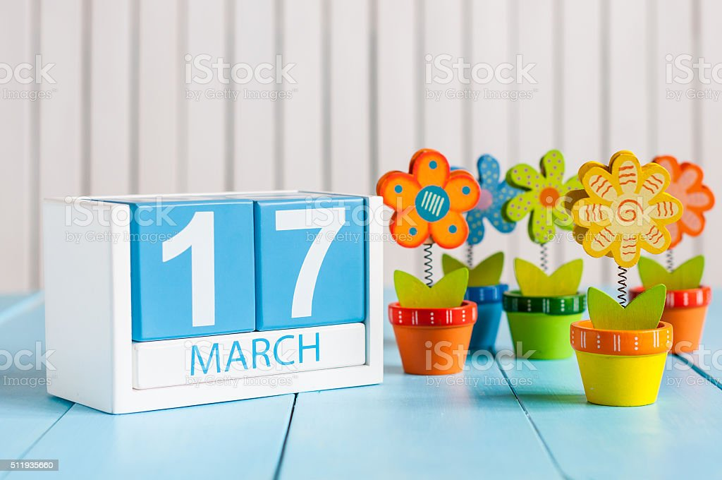 March 17th St. Patrick Day Concept. Image of march 17 stock photo