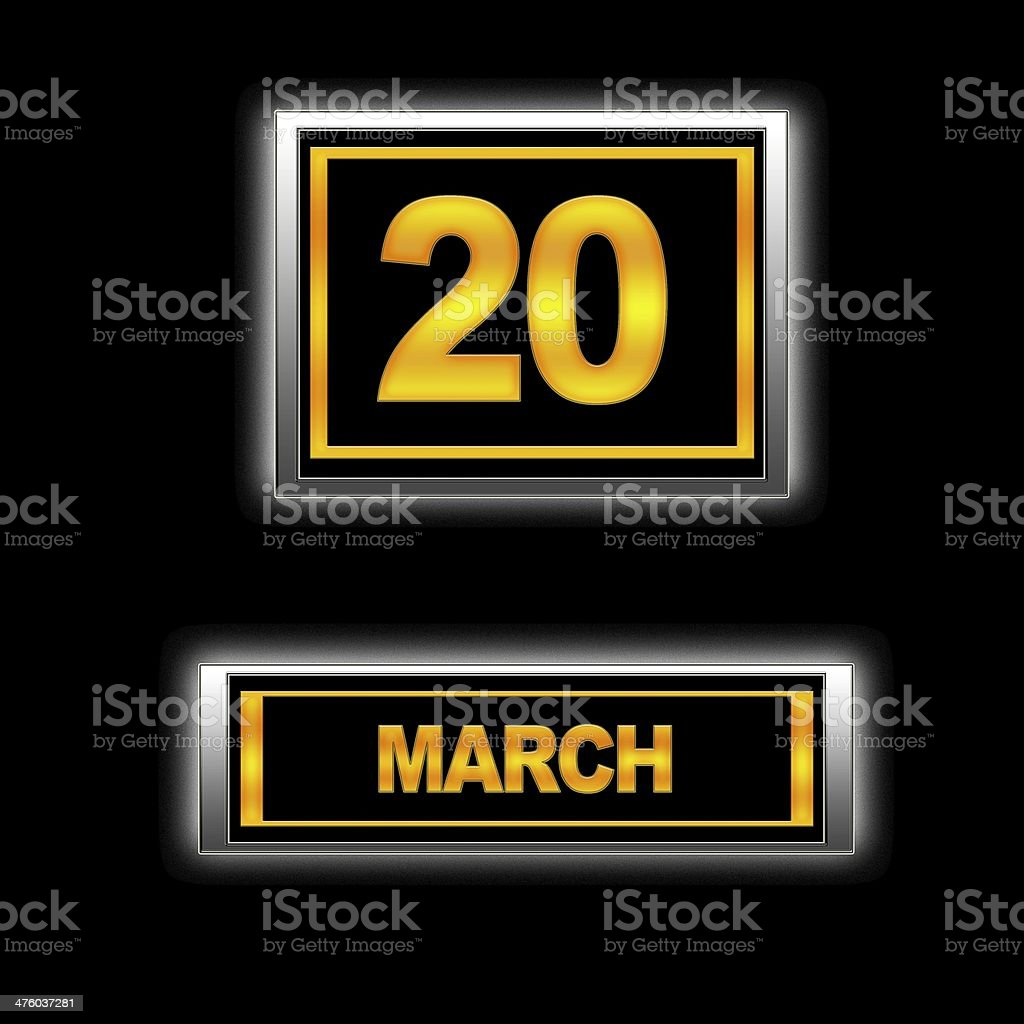 March 20. stock photo