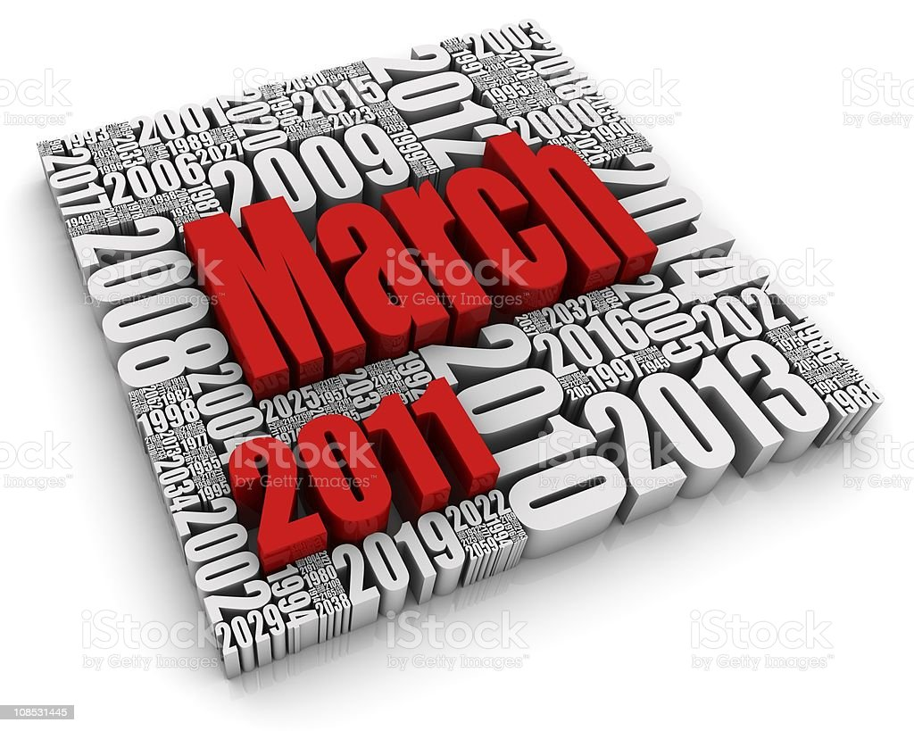 March 2011 royalty-free stock photo