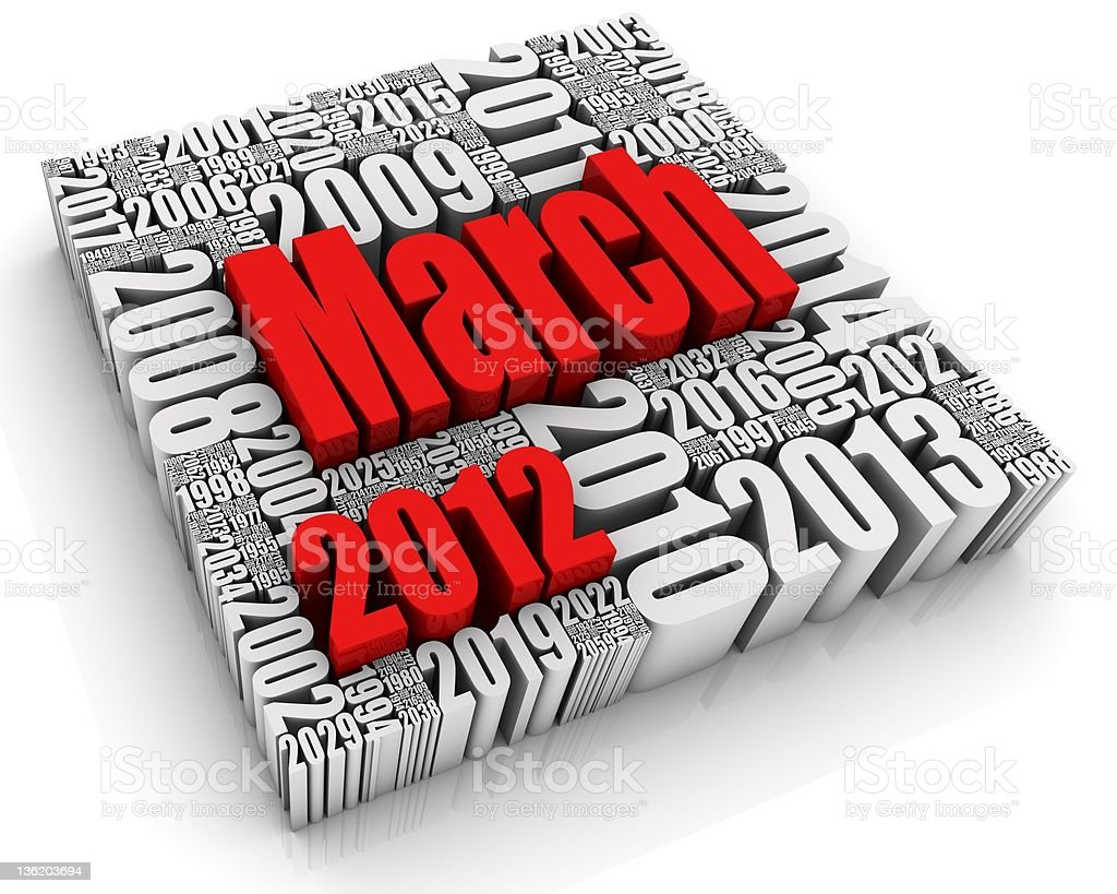 March 2012 royalty-free stock photo
