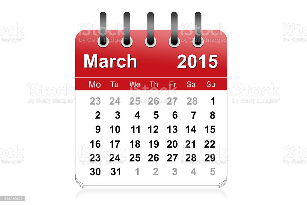 March 2015 stock photo