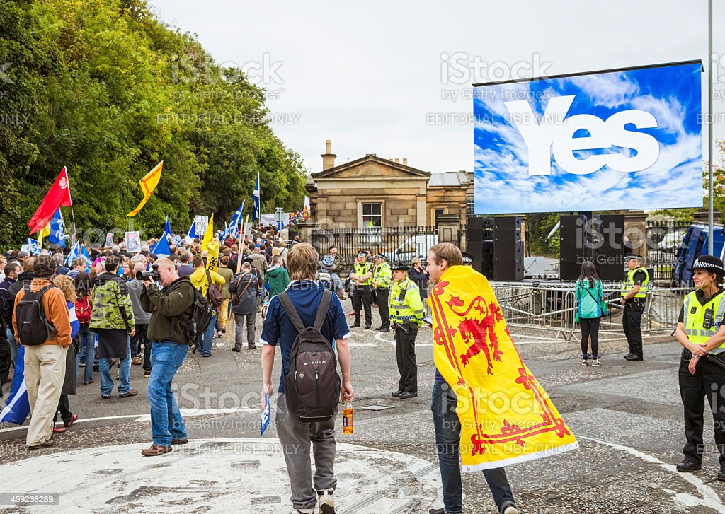 March and Rally for Scottish Independence stock photo