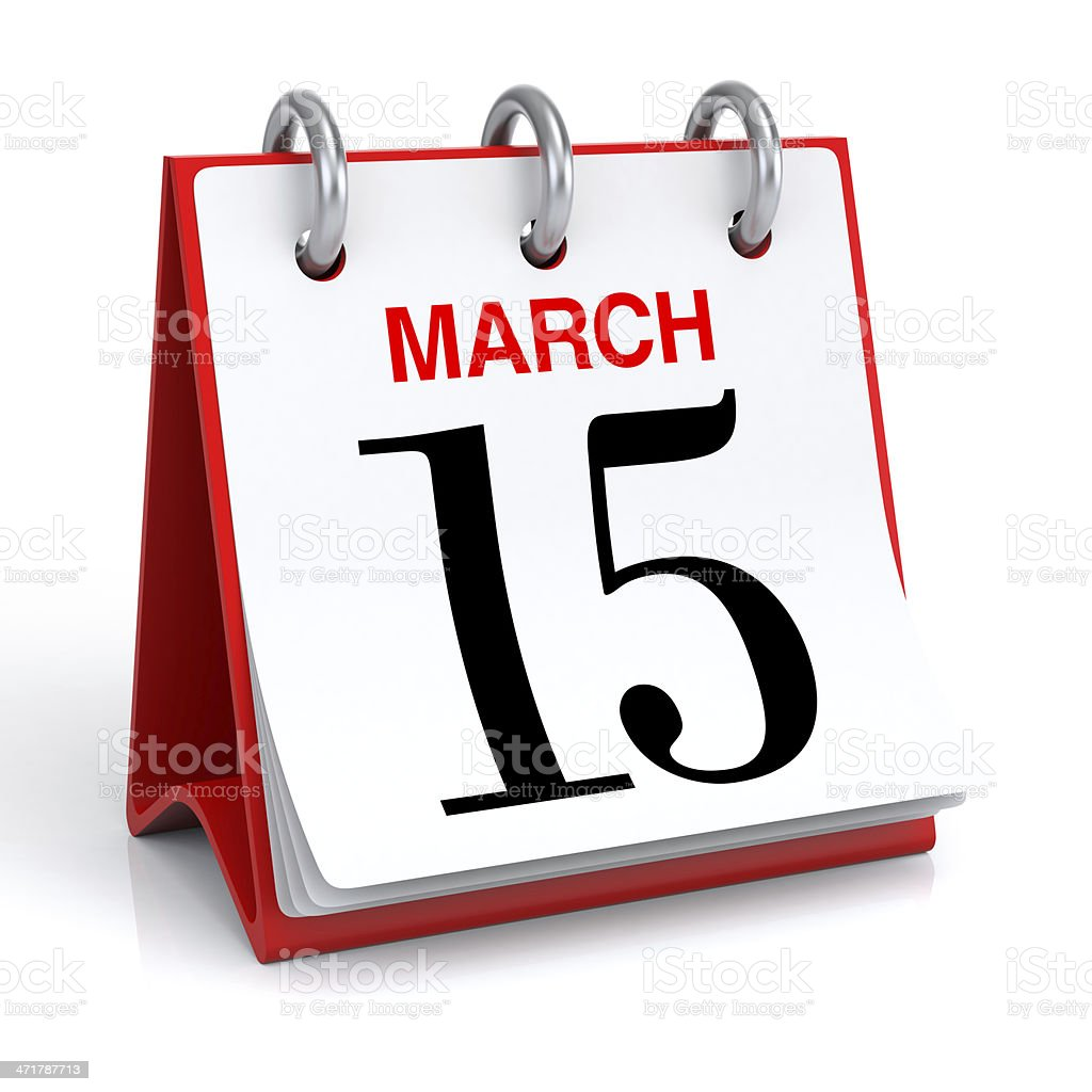 March Calendar stock photo