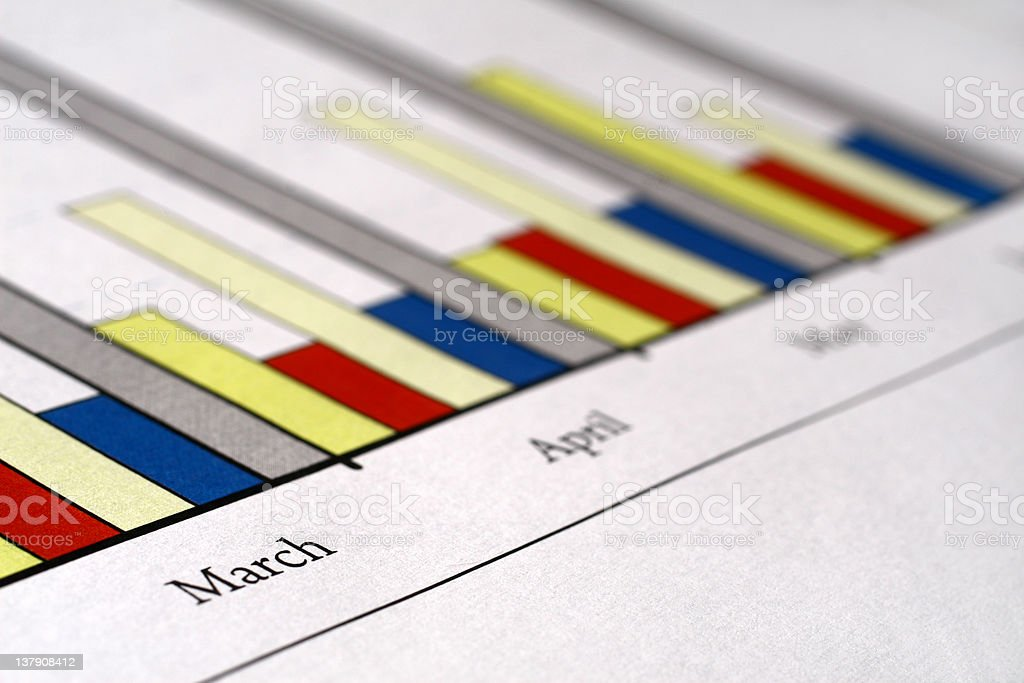 March - colorful charts royalty-free stock photo