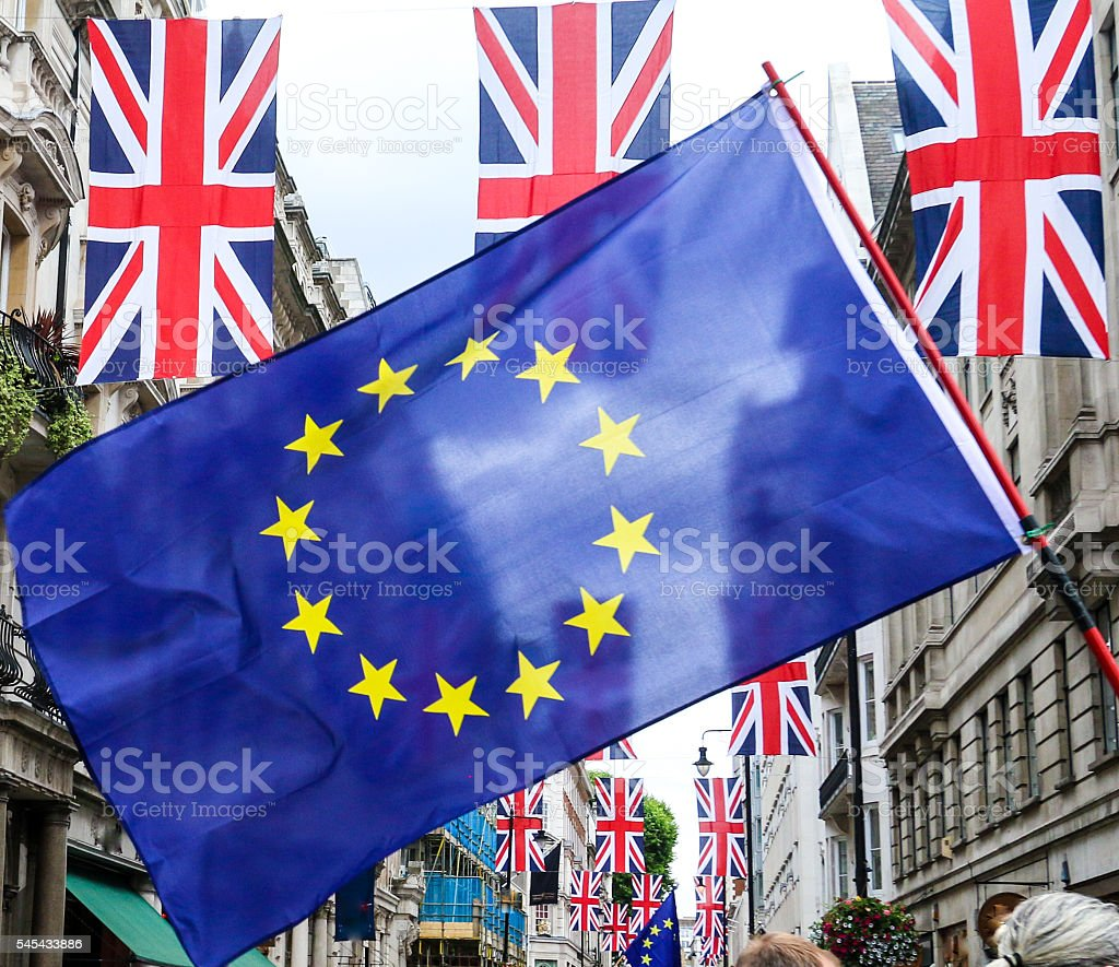 March for Europe in London, England stock photo
