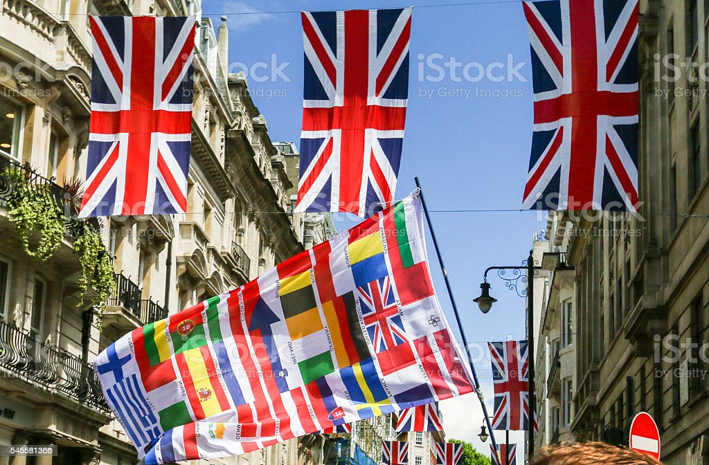March for Europe in Park Lane, London stock photo