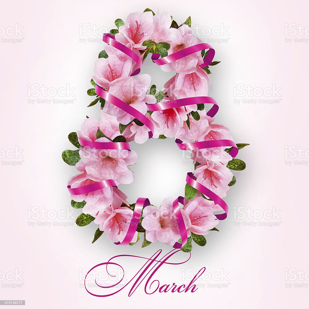 8 march International Women's Day stock photo