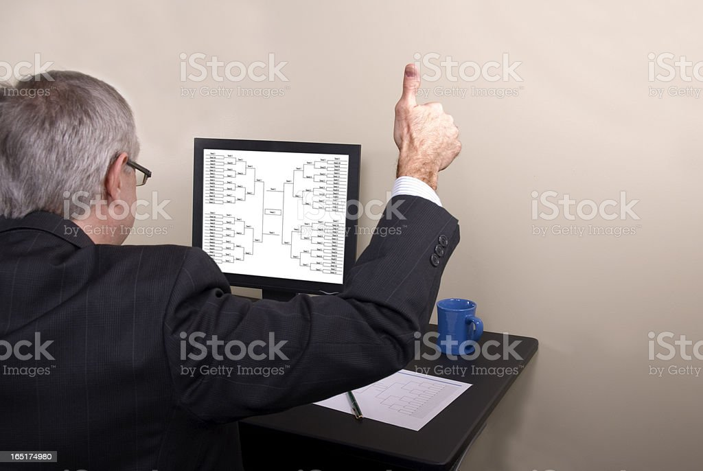 March Madness Businessman Thumbs Up royalty-free stock photo