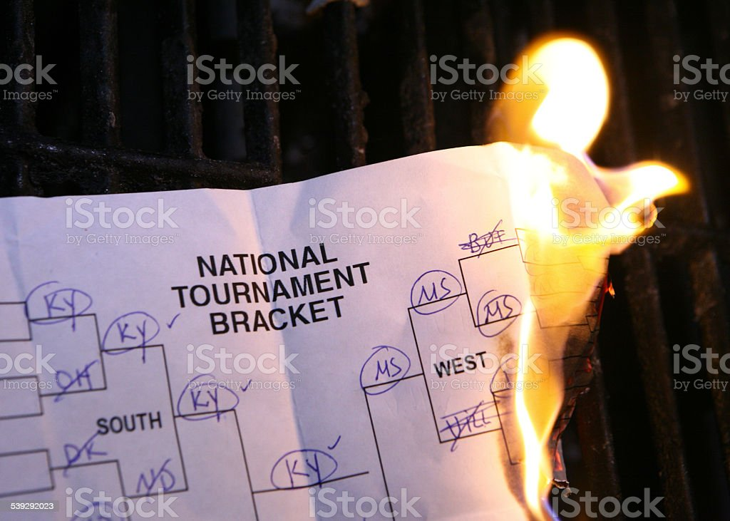 March Madness Busted Bracket stock photo