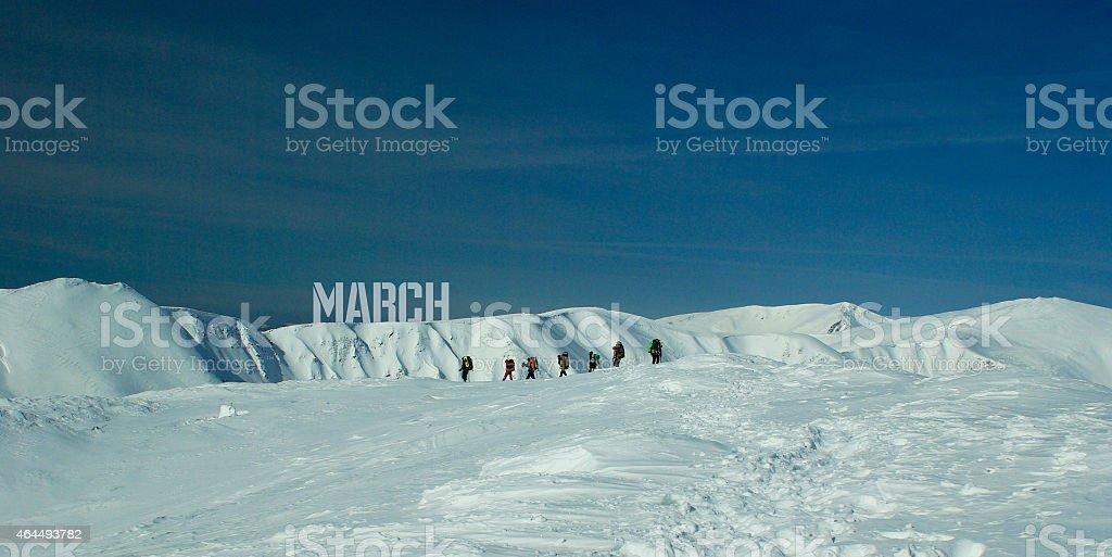 March. Mountains royalty-free stock photo