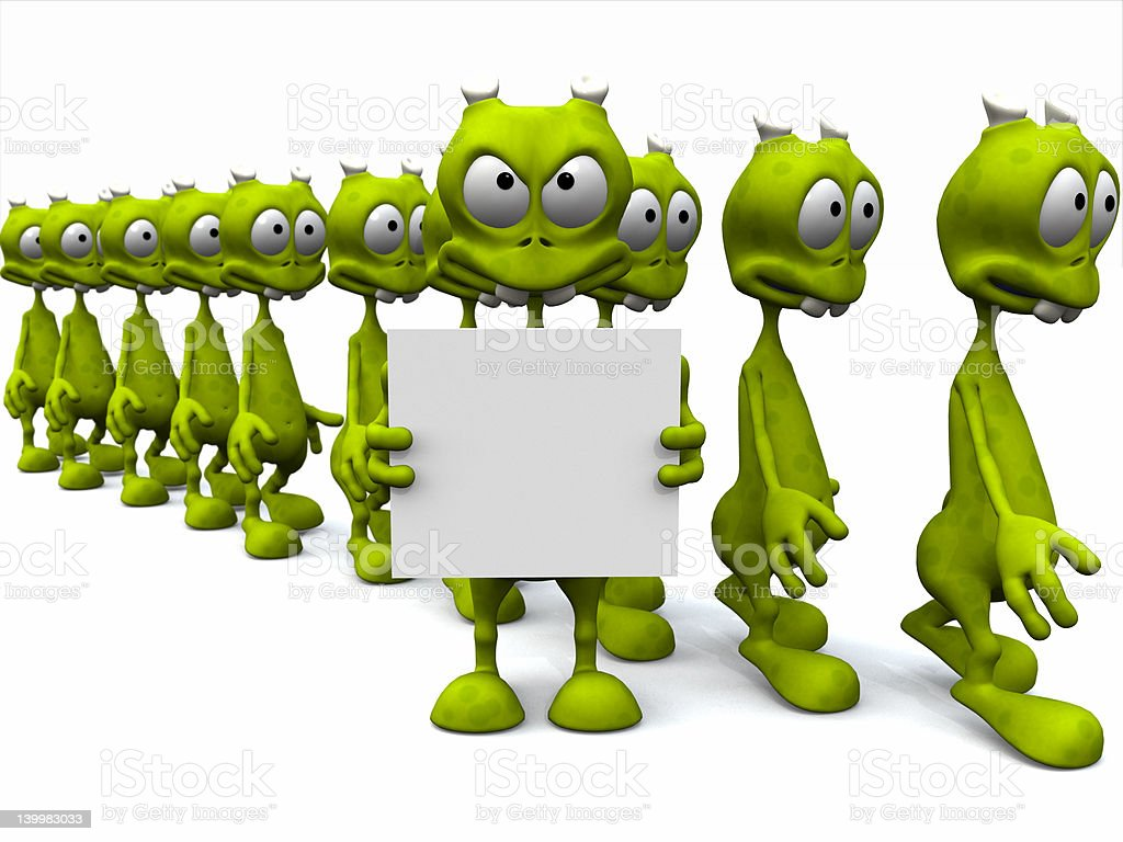 March of the Aliens royalty-free stock photo