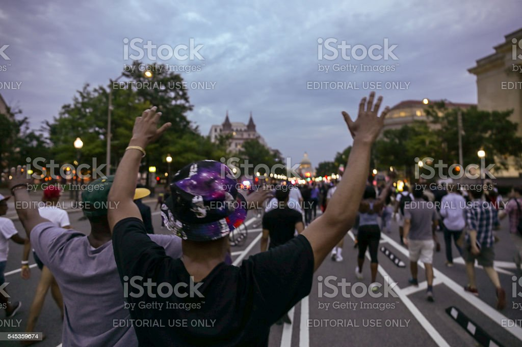 DC 'March on the White to End Police Brutality' stock photo