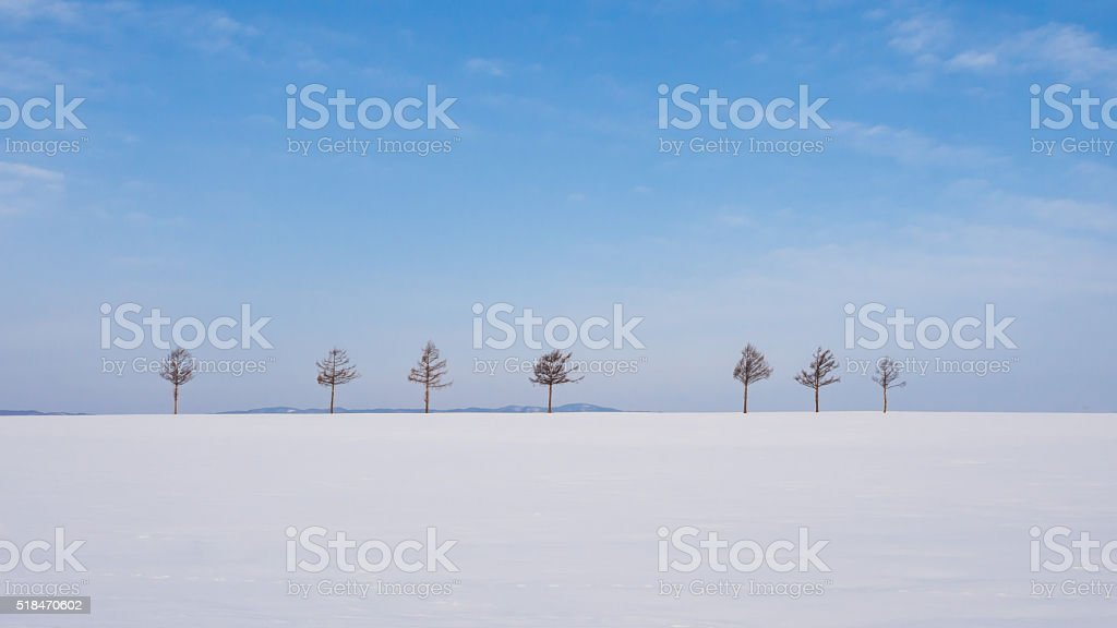 Marchen Hill (Fairy Tales Hill), Hokkaido, Japan stock photo