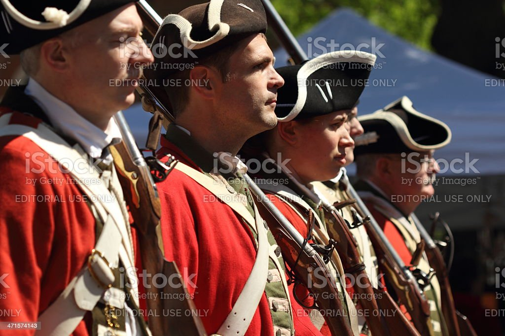 Marchers in the parade royalty-free stock photo