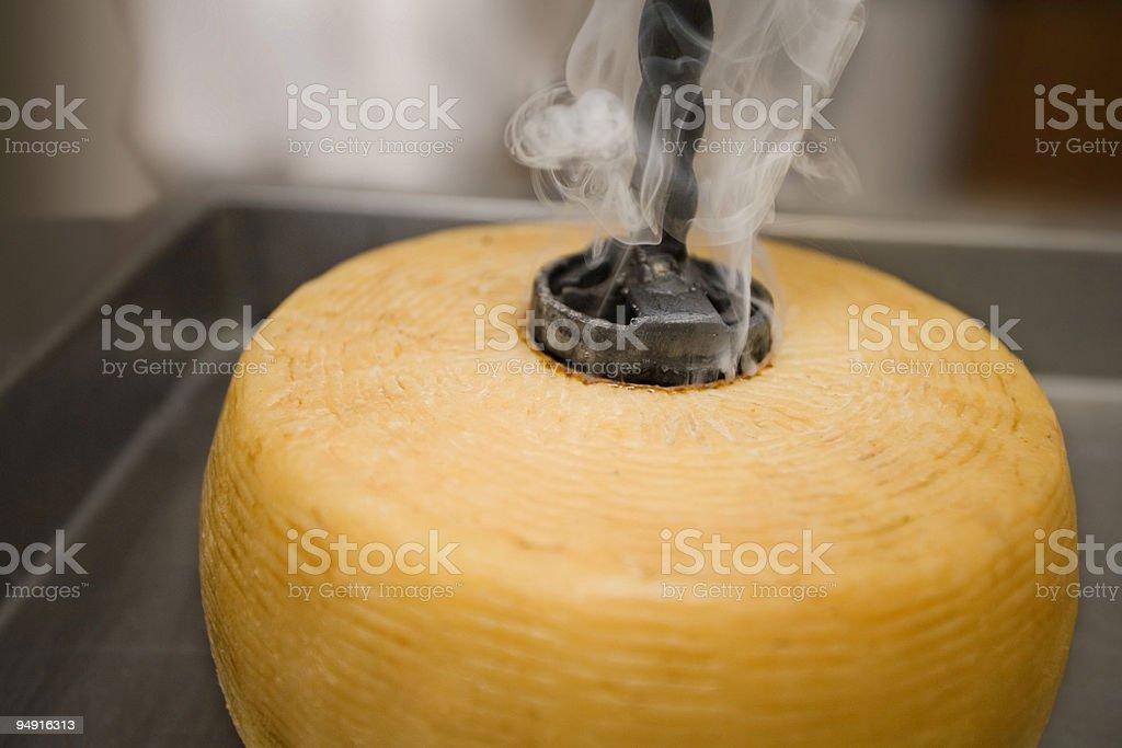 marchiatura del pecorino stock photo