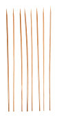 Marching Bamboo Skewers, Sharpened Sticks in Single Row, Isolated Background