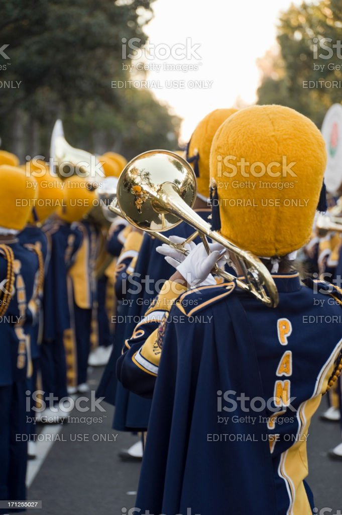 marching band brass section royalty-free stock photo