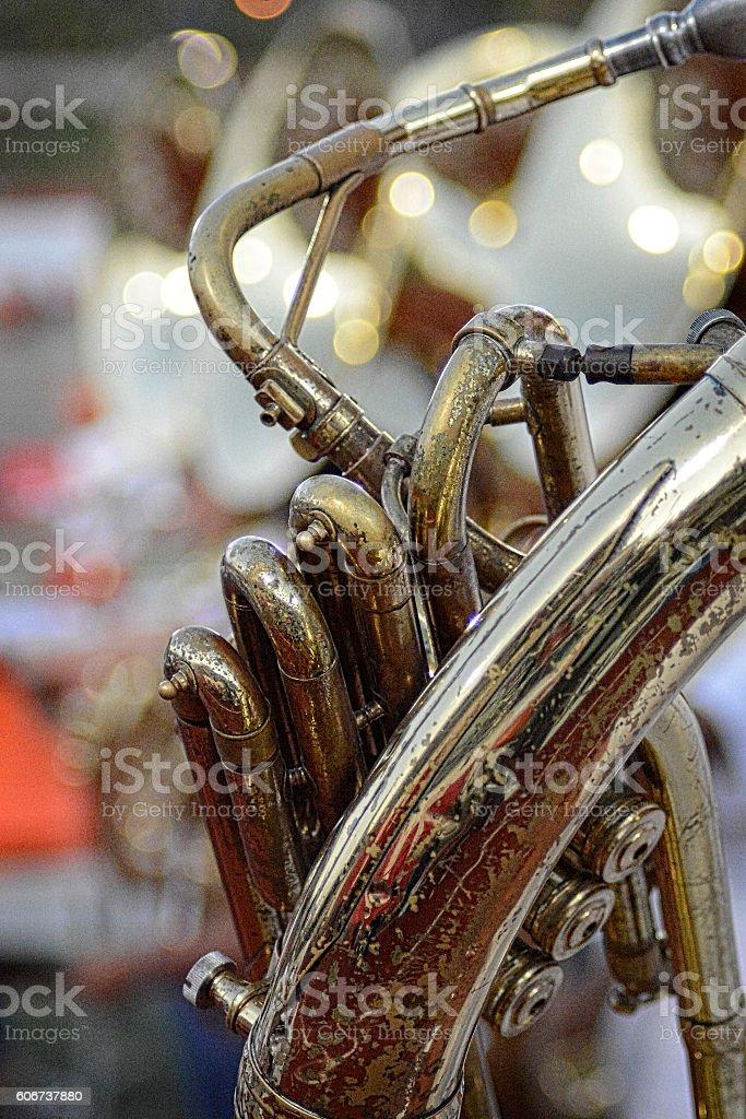 Marching Band Brass Tuba Sousaphone stock photo