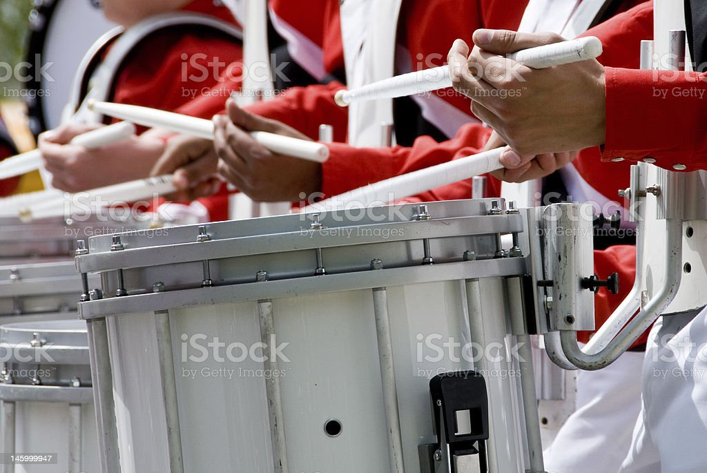 Marching Band Drummer stock photo