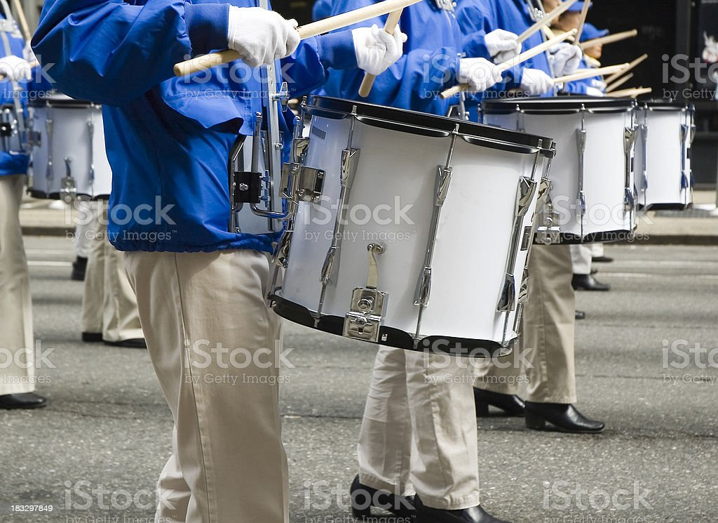 Marching Band Drummers stock photo