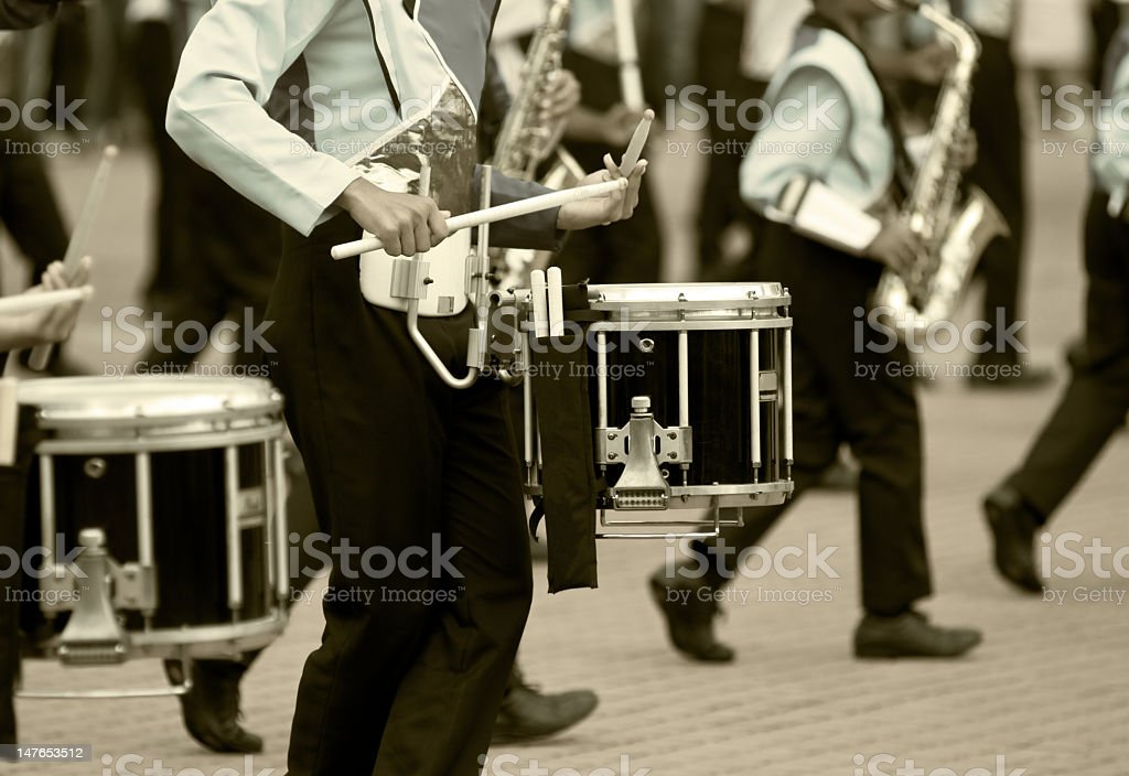 Marching band drums stock photo