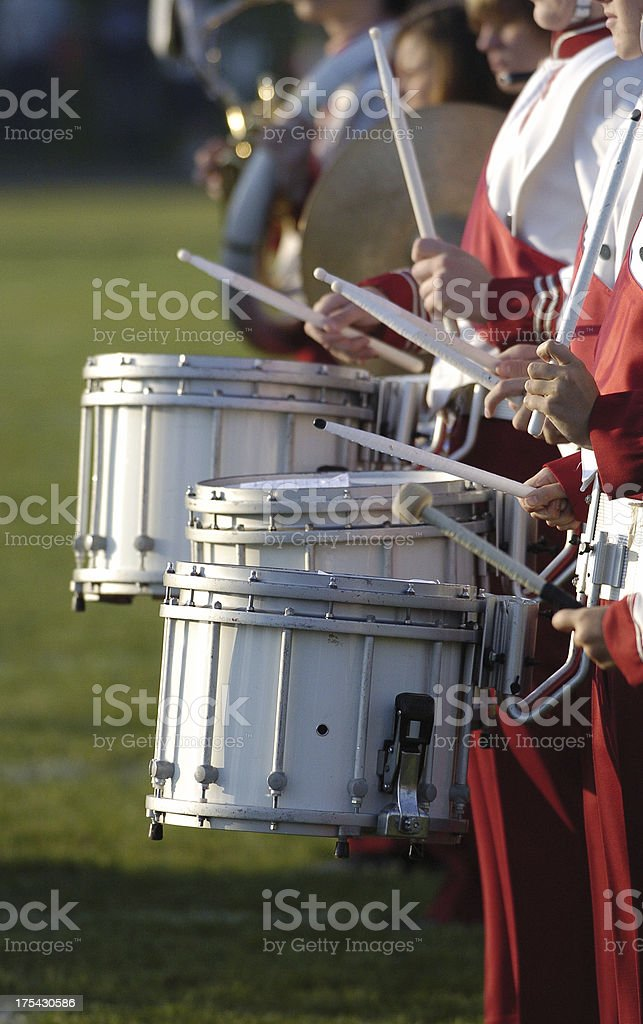 Marching band drums royalty-free stock photo