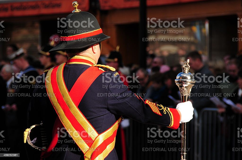 Marching band, Jersey. royalty-free stock photo