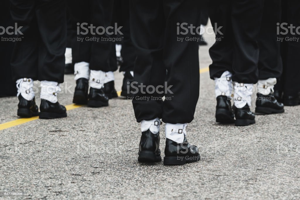 Marching Cadets stock photo
