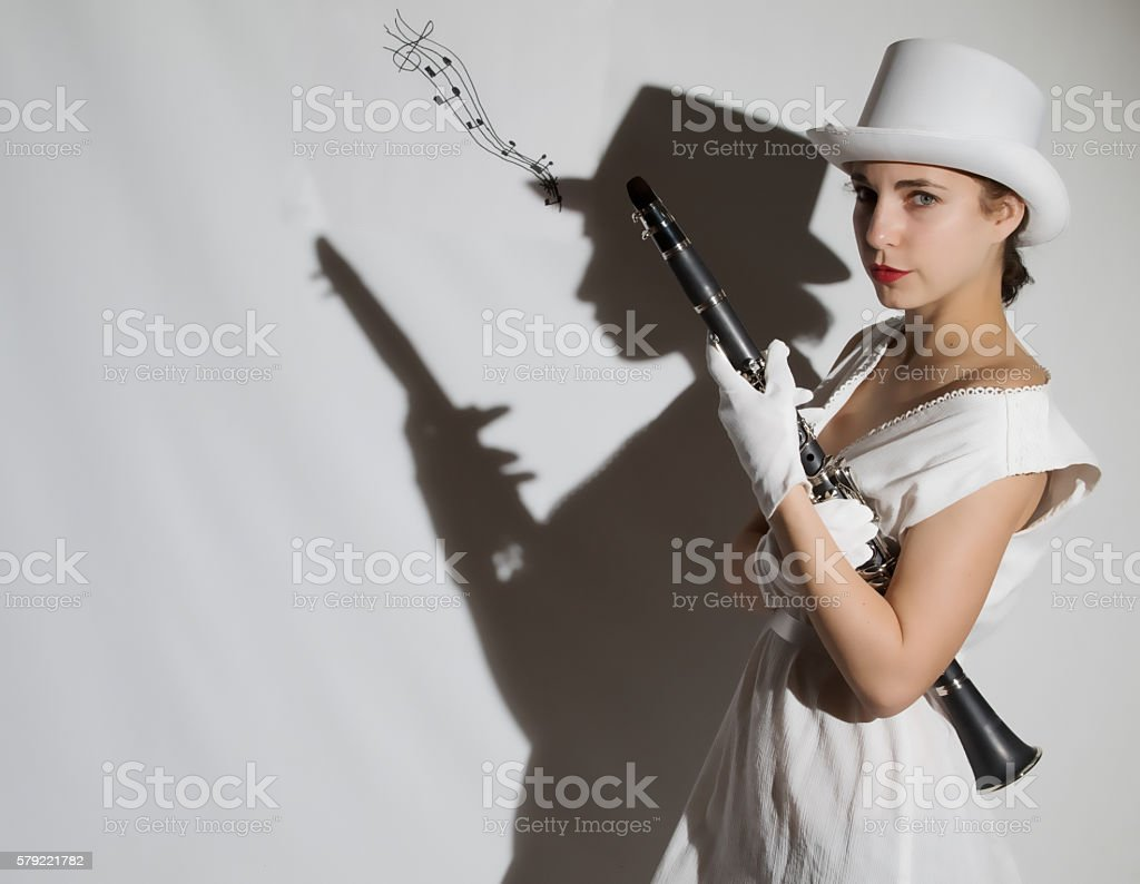 Marching Female Adult Looking At The Camera stock photo