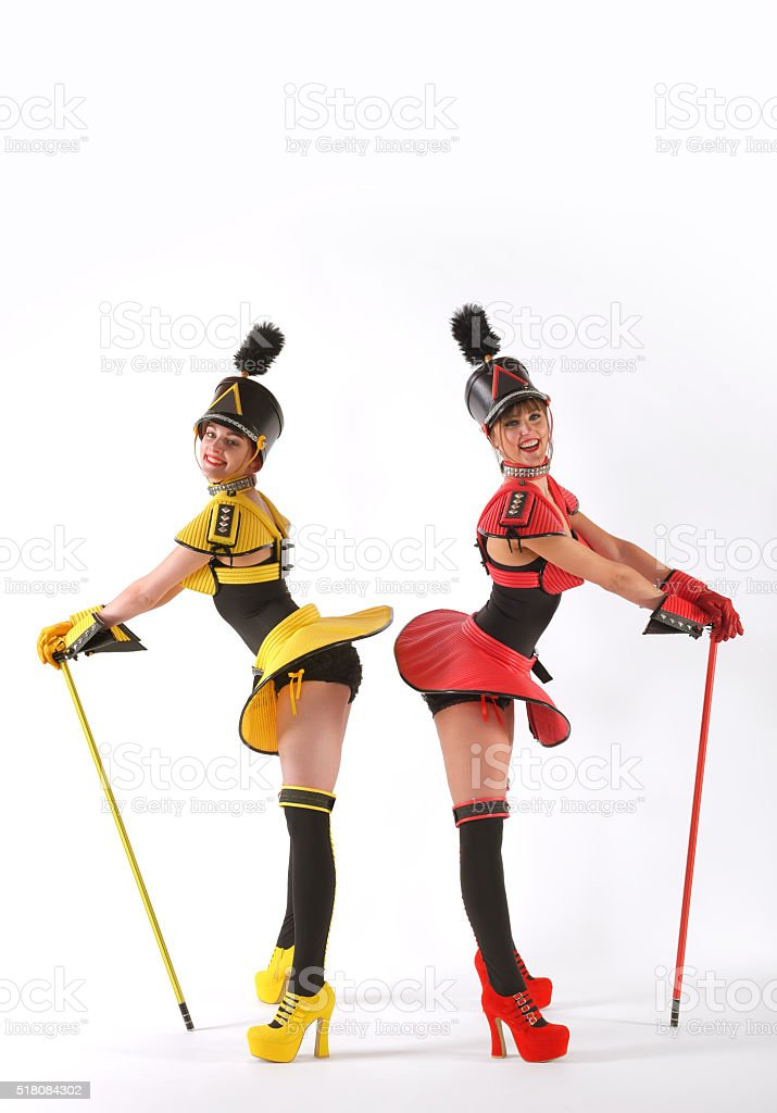 Marching Girls one stock photo
