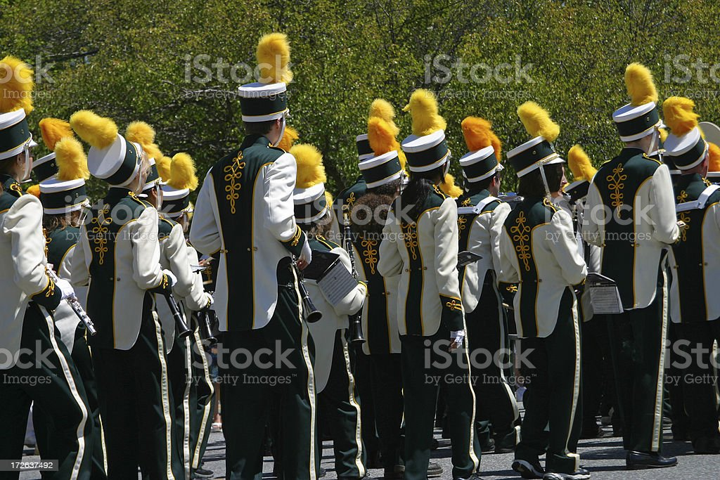 Marching in the Parade royalty-free stock photo