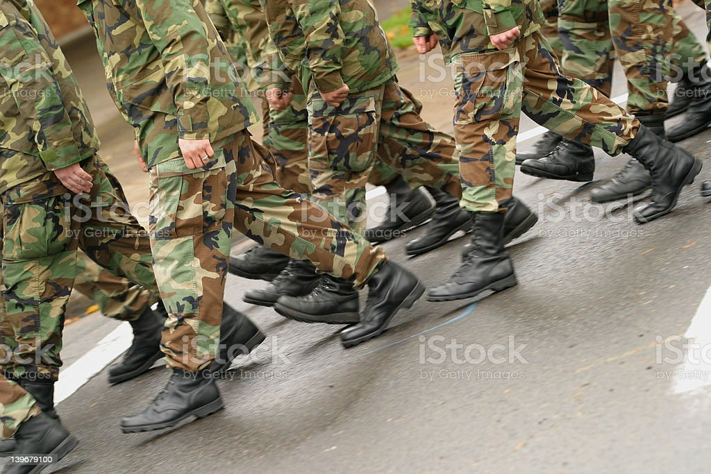 Marching royalty-free stock photo
