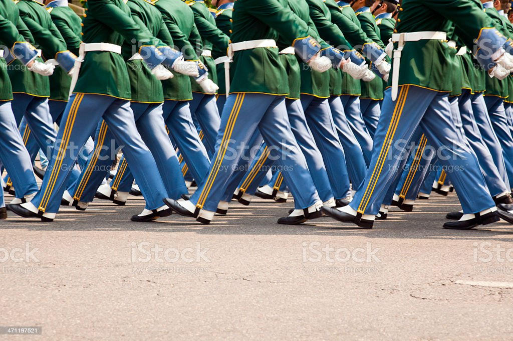 Marching soldiers royalty-free stock photo