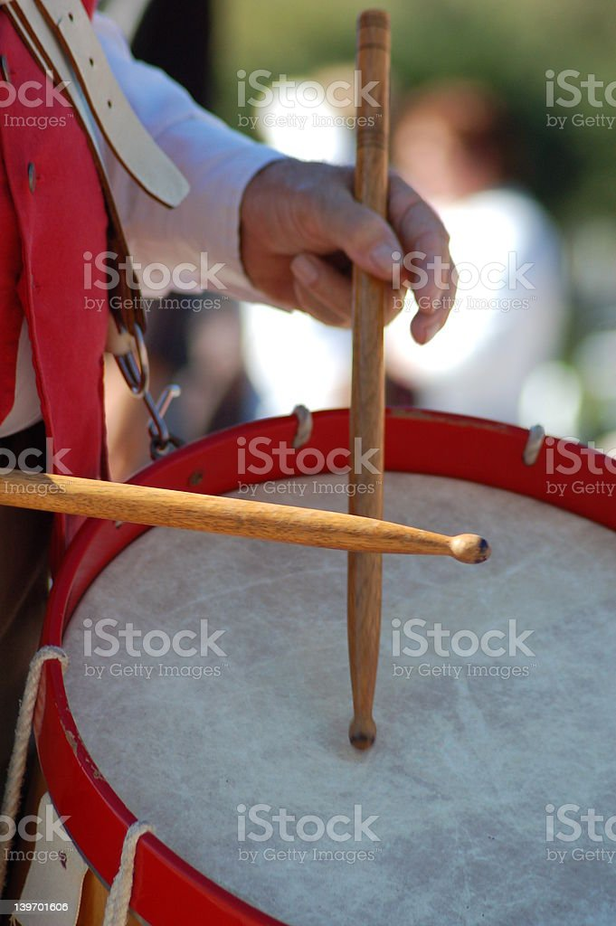 Marching to the beat royalty-free stock photo