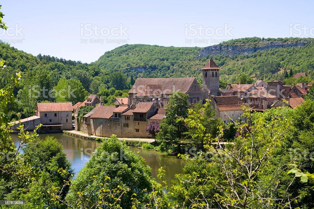 Marcilhac sur Cele village, Lot, France stock photo
